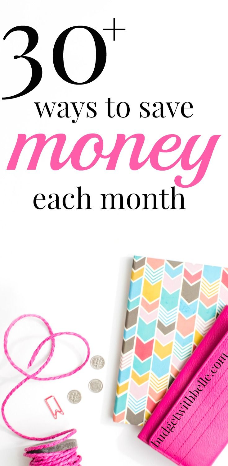 Here are 30 + ways to save money each month to stretch out your budget even further. Apply these tips and tricks and watch your money go further!