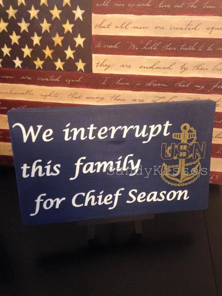 Navy chief Season sign  https://www.etsy.com/listing/246619049/navy-chief-season-sign