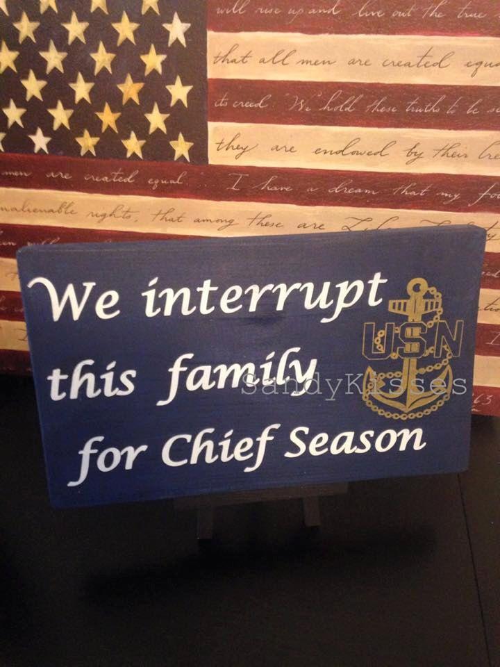 Navy chief Season sign  https://www.etsy.com/listing/246619049/navy-chief-season-sign