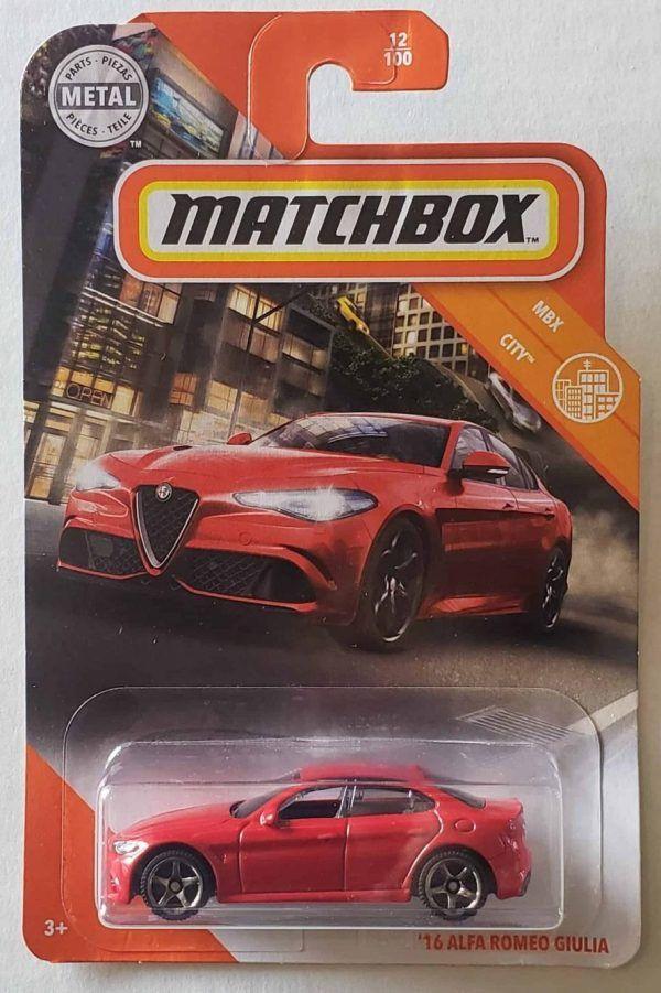 Matchbox 2020 Mbx City 16 Alfa Romeo Giulia Gkk25 At Jtc Collectibles Alfa Romeo Alfa Romeo Giulia Matchbox