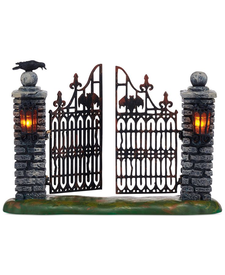 department 56 halloween village collection spooky wrought iron gate more decorations for the home