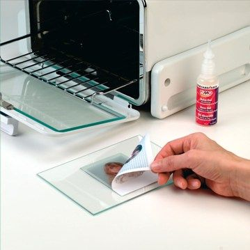 use Fimo Sel Gel to transfer pictures onto glass in oven