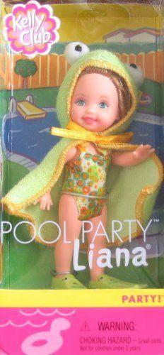 Barbie Kelly Club Liana Pool Party Doll with Frog Outfit 2001 by Mattel, http://www.amazon.com/dp/B002RPFI62/ref=cm_sw_r_pi_dp_JjFZrb0H06QRK
