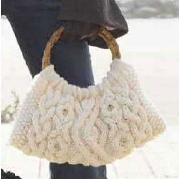 Mary Maxim - Free Cabled Bag Knit Pattern - Free Patterns - Patterns & Books