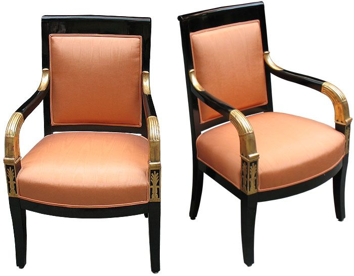 Pair of Ebonized  Giltwood Empire Armchairs. 80 best antique chairs images on Pinterest   Antique chairs