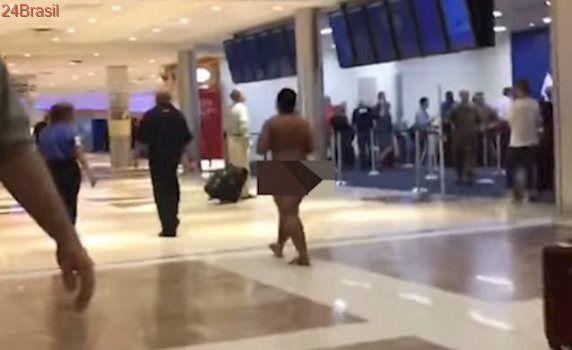 O mais lotado do mundo: No aeroporto de Atlanta, 'peladona' assusta pessoas