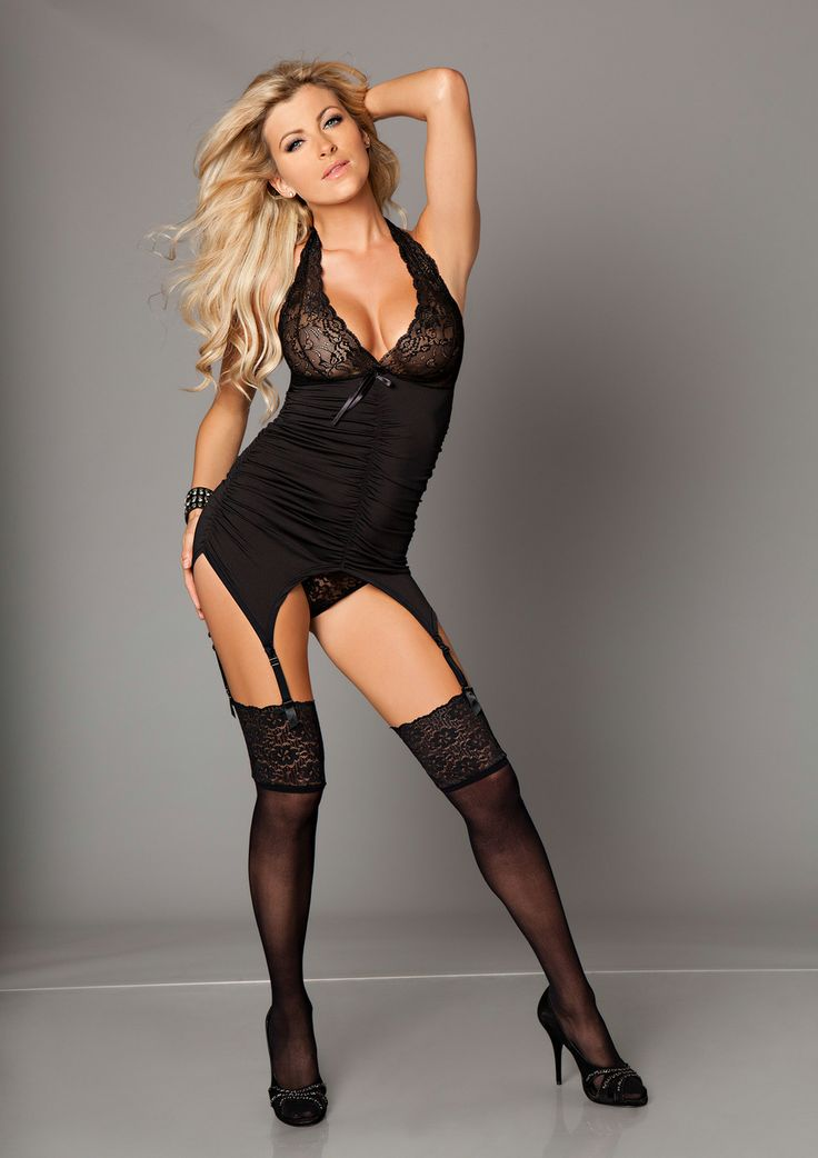 Kiss Me Catchy Cabaret Cami Set £29.99 With lace cups, ruched sides and detachable suspenders. Includes matching thong.  www.townoftoys.co.uk