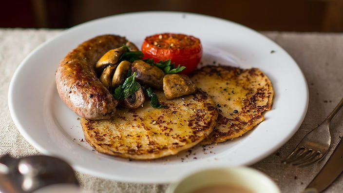 """More of a potato pancake than traditional """"scone"""", these carby treats go perfectly with a fry-up. Try Matthew Evans' tattie scones this weekend."""