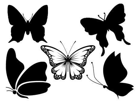 Papillons - Fichiers SVG et Silhouette Studio gratuits - 5 motifs gratuits papillon/butterfly