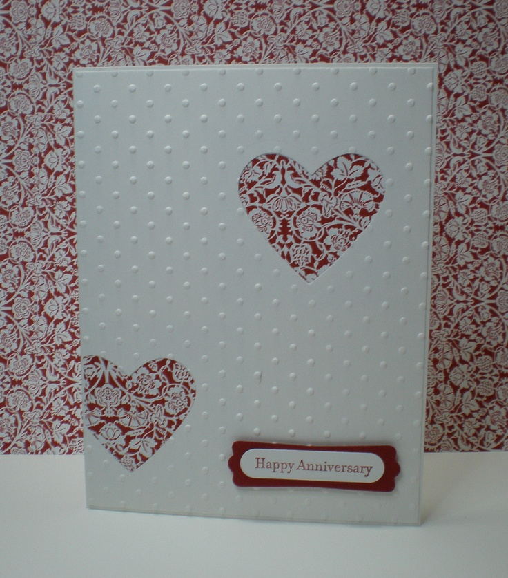 A clean and simple card!  I made this as an anniversary card, but consider Valentine's Day, Wedding.......