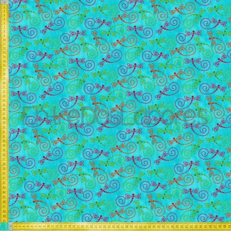 Tela de patchwork Fabry Quilt Mod. Calypso azul.