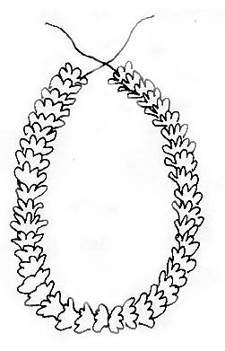 rose garland coloring pages - photo#43