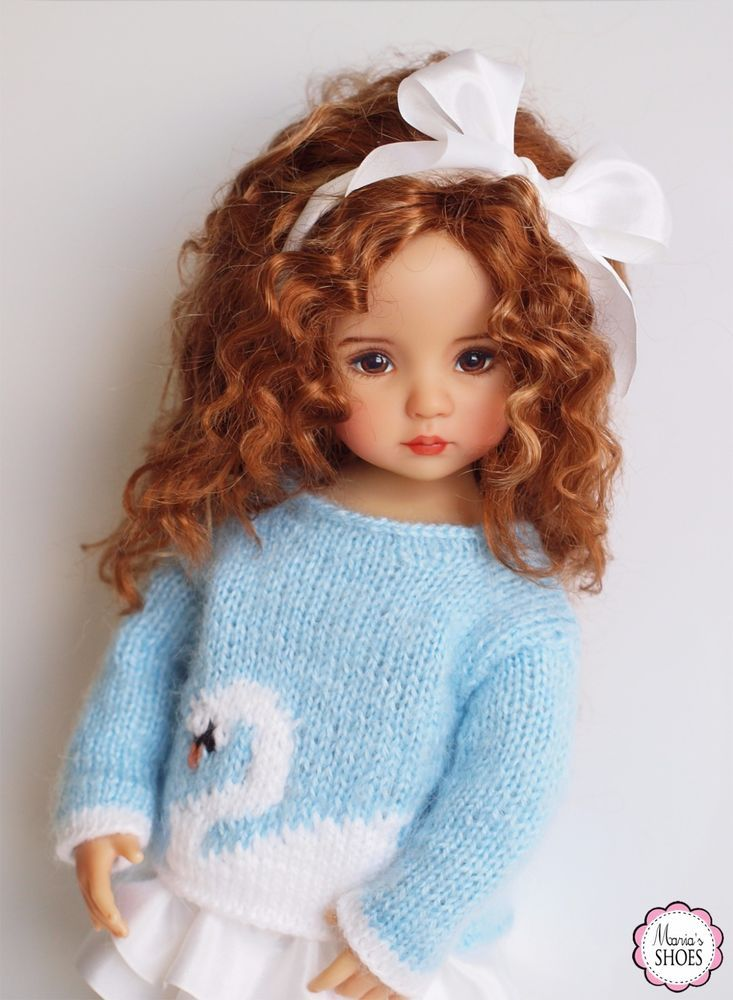 """The Swan Ensemble Outfit for Little Darling Effner 13"""" doll #DiannaEffner"""