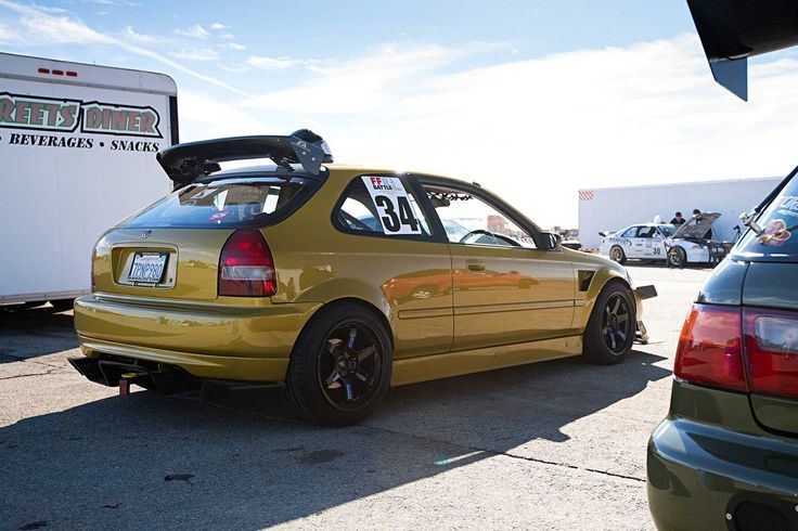 Cool Honda 2017: Albert Donkor's K24 2000 Honda Civic DX hatch at Continental Tire FF Battle 2016... Tuned Up!