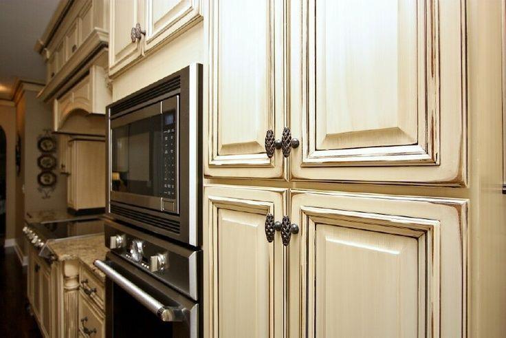 Inspirational Cream Distressed Kitchen Cabinets ...