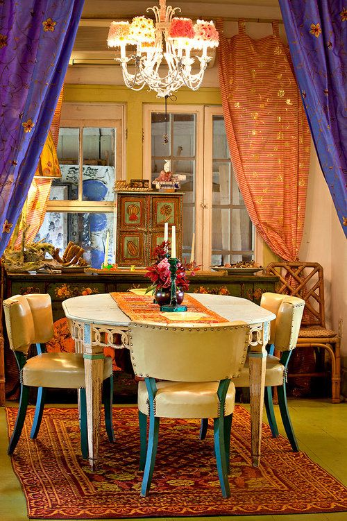 Boho dining home pinterest for Dining room ideas bohemian