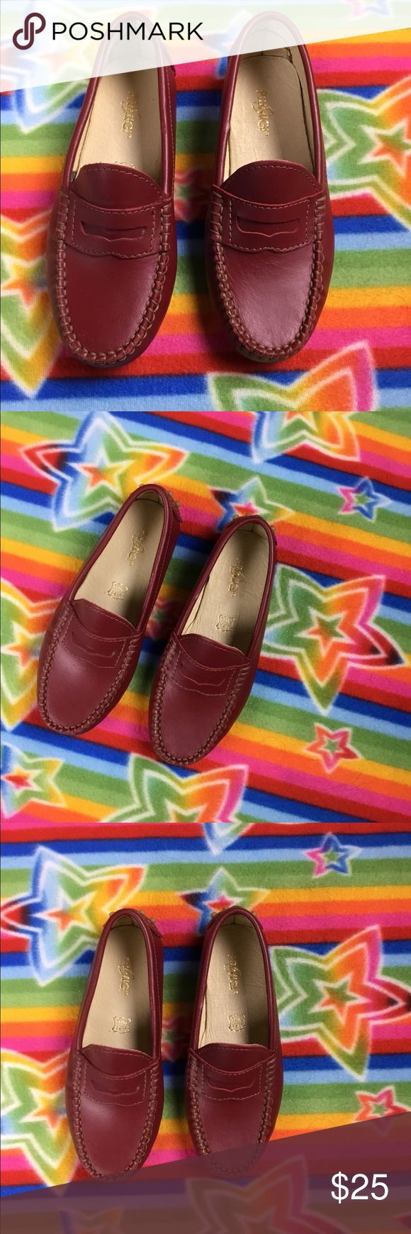 Primigi  Red Leather loafers New Condition Big Kids loafers  My son is size 13 narrow and they fit  Red Leather/Tan detail Primigi Shoes Moccasins