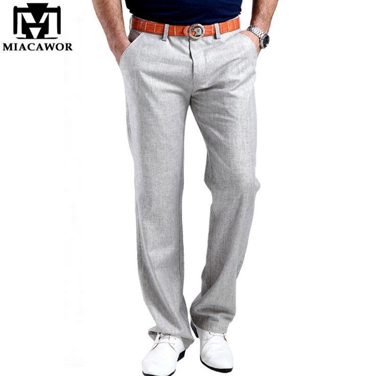 new arrival Men Summer Linen Casual Pants Stretch Flax Cotton Size 29-38 5 colors