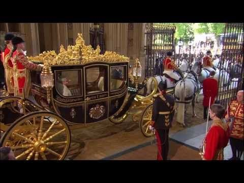 The Queen Opens British Parliament Pageantry 2015 - YouTube