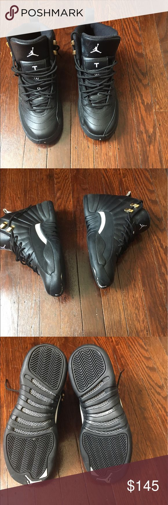 Nike Air Jordan The Master Size 6 Black/white-gold Nike Air Jordan Retro 12 XII The Master Size 6 Black/white-gold OG ALL.  Wore once , excellent condition Air Jordan Shoes Athletic Shoes