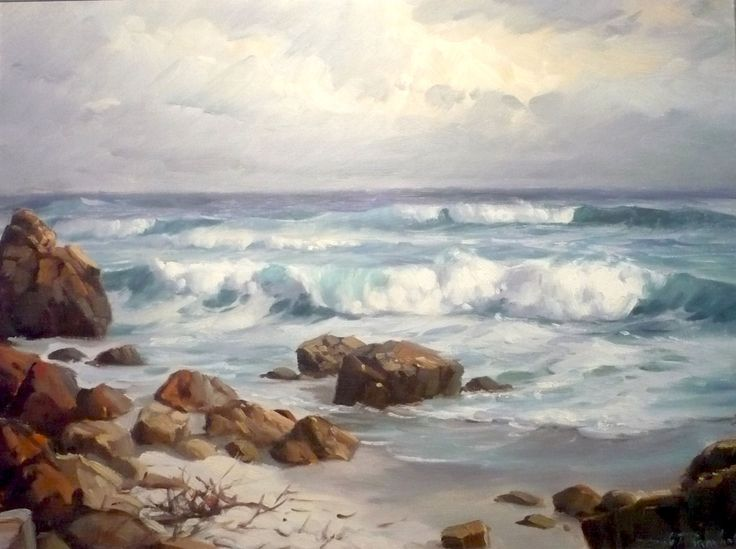 Awesome sea side scape by Dino Paravano. I can almost hear the waves rolling in and feel the salty air blowing through my hair when I look at this, amazing.