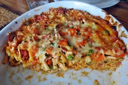 Überbackene Gemüse - Spaghetti