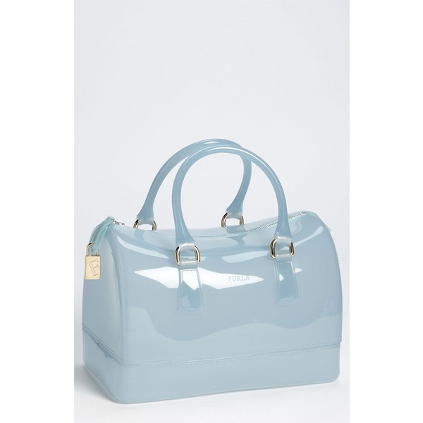 Furla 'candy' Rubber Satchel ($228) ❤ liked on Polyvore