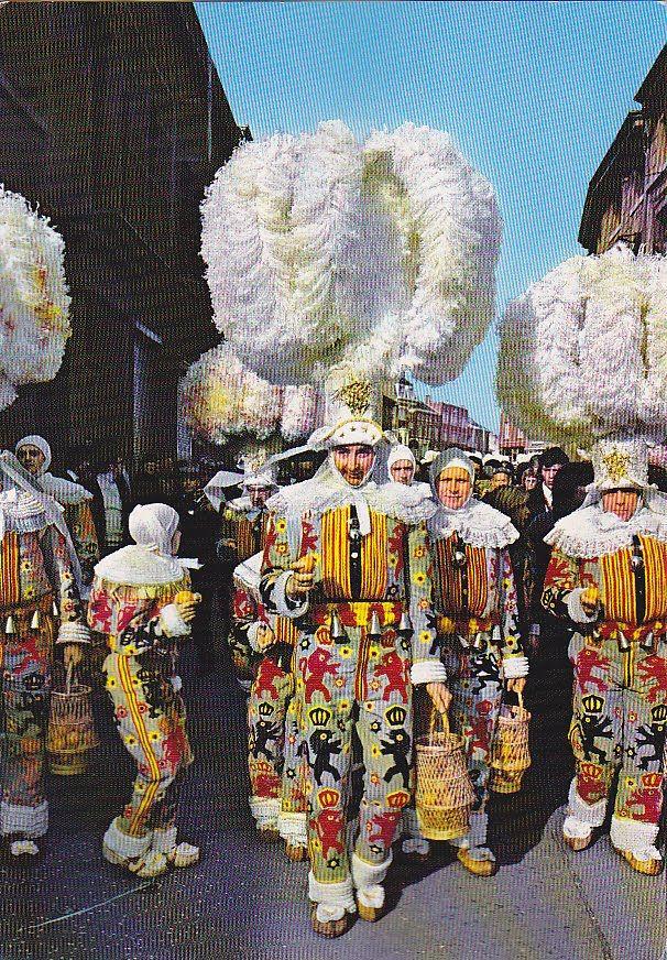 My UNESCO World Heritage Postcards: Belgium - Carnival of Binche - UNESCO Intangilble Cultural Heritage
