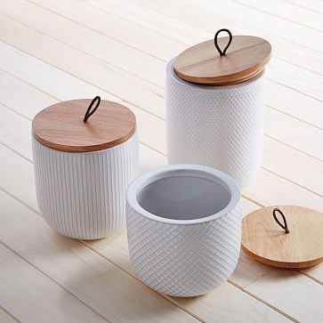 Textured Kitchen Canisters #westelm