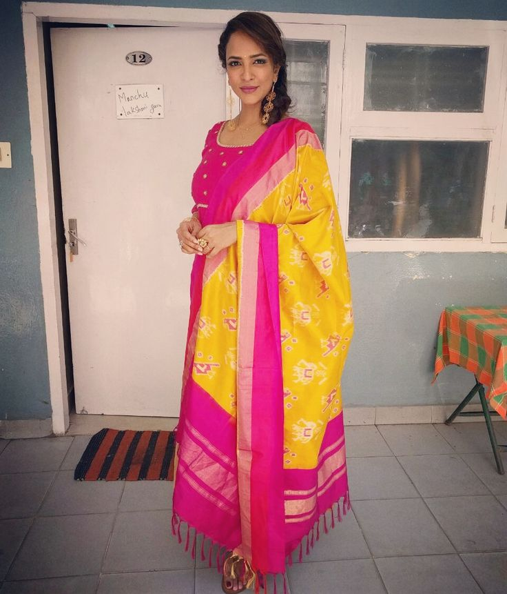 lakshmimanchu as a celebrity judge for a show on   etv...wearing  sunainarao ..styled by  shwetamalpani  tollywood 26 May 2016