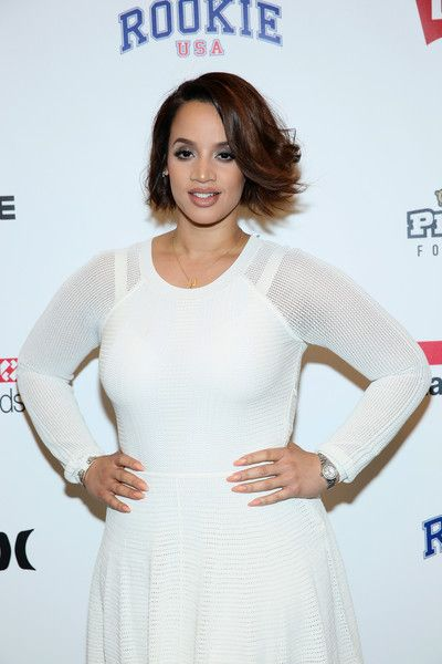 Dascha Polanco poses backstage at the Rookie USA Presents Kids Rock! Fall 2016 fashion show during New York Fashion Week: The Shows at The Dock, Skylight at Moynihan Station on February 11, 2016 in New York City.