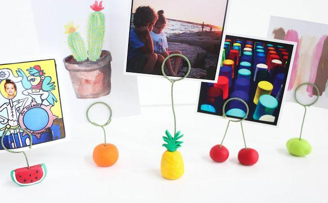 Craft It - Fruit Photo Holders. DIY, pineapple, decoration, fun, party