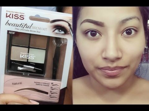 FIRST IMPRESSIONS NEW Kiss Beautiful Brow Kit FULL EYEBROW TUTORIAL - Alexisjayda - YouTube More brows!!!