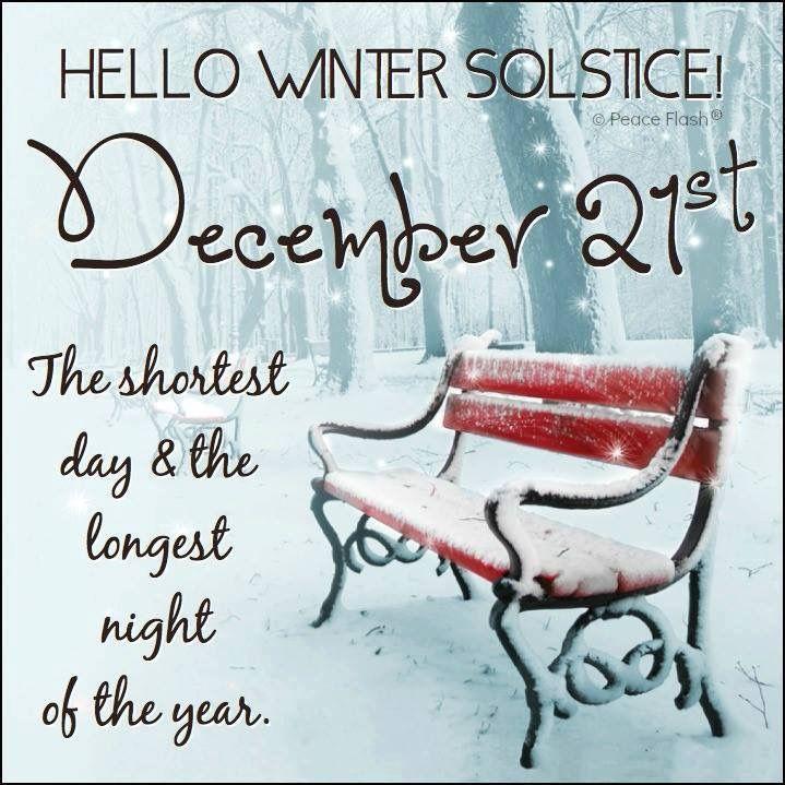 Hello Winter Solstice December 21st