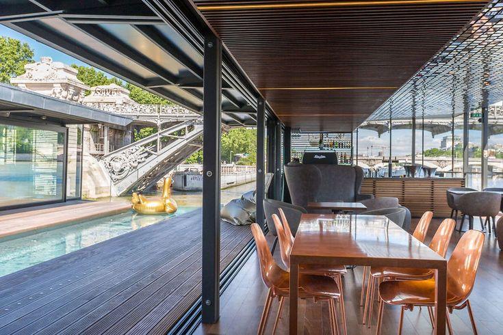 Les 25 meilleures id es concernant quai flottant sur for Hotel branche a paris