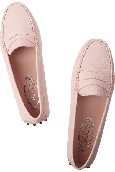 Tod's   Gommino textured-leather loafers   NET-A-PORTER.COM