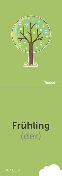 Frühling #CardFly #flience #time #german #education #flashcard #language