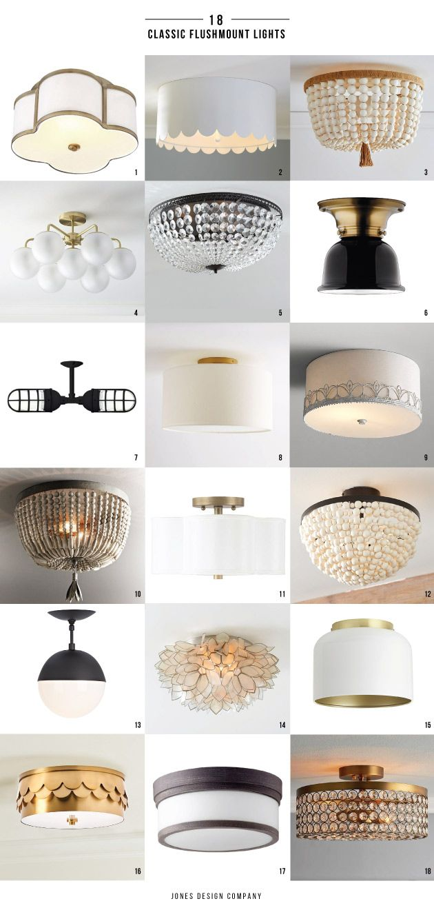 18 Classic Flushmount Lights (6 of which are in our new house)