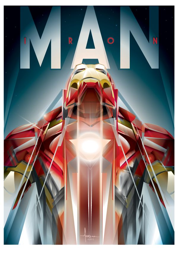 Wow. This guy has some nice work. IRONMAN 2 VECTOR TRIBUTE by Orlando Arocena, via Behance