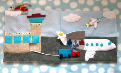 Airport quiet book page (free pattern & tutorial)