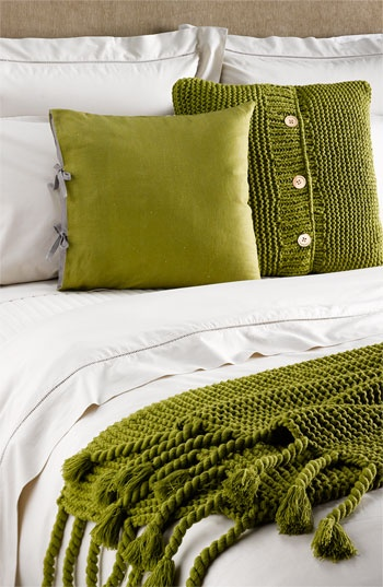 love the knit pillow!