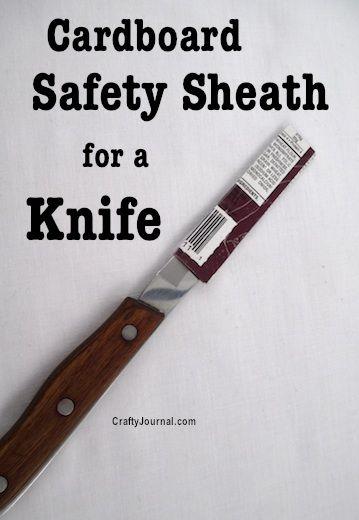 Cardboard Safety Sheath for a Knife by Crafty Journal