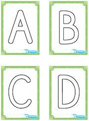 Trace les lettres A-B-C-D
