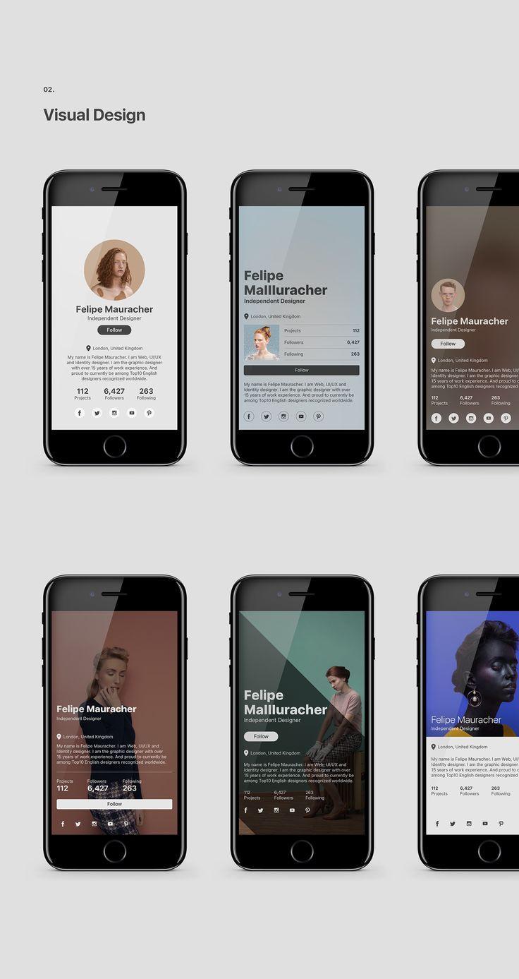 Presentation Design Ideas Simple Design Layout Mockup Web App Design Profile App App Design