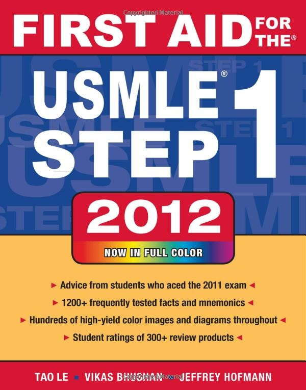 First Aid for the USMLE Step 1 2012 (First Aid USMLE): I'm all over it!