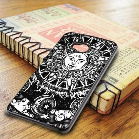 Sun And Moon Art HTC One M7 Case