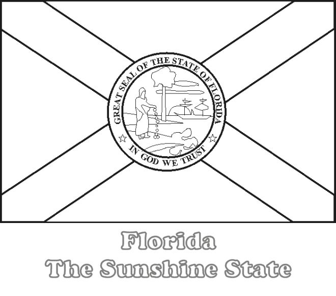 Large, Printable Florida State Flag to Color, from