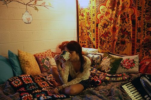 ❤ Boho dorm. Tea. Fabric.