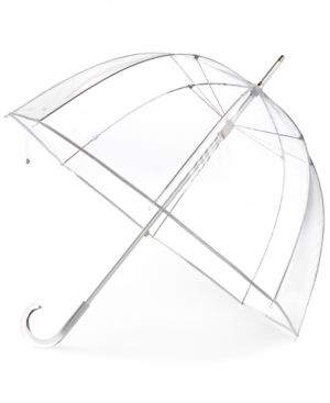 Totes Clear Bubble Umbrella - White