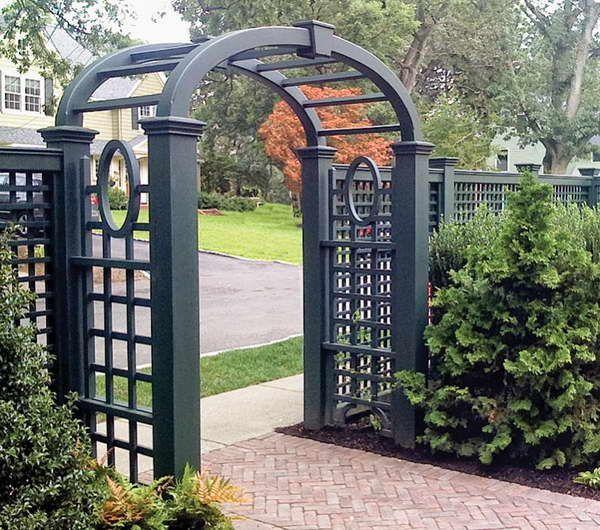 Stone With Awesome Gate Outdoor Trellis Pergola Garden Gates